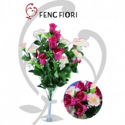 Bouquet garofani/boccioli 24F